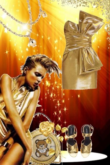 Gold dress 20-1