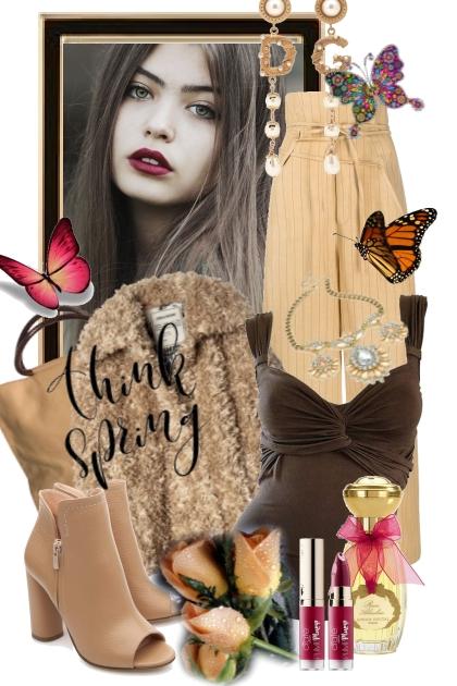 Brun/beige 21-1- Fashion set