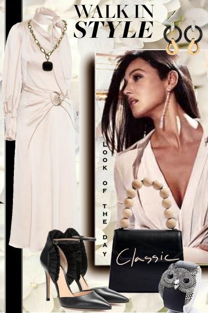 Blekrosa kjole