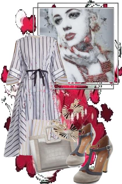 Stripete kjole 5