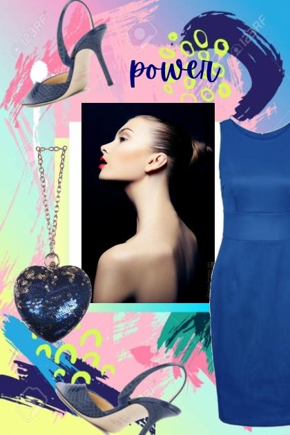 Blå kjole 27-2