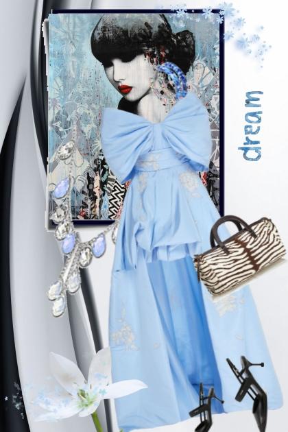 Blue dress 28-2