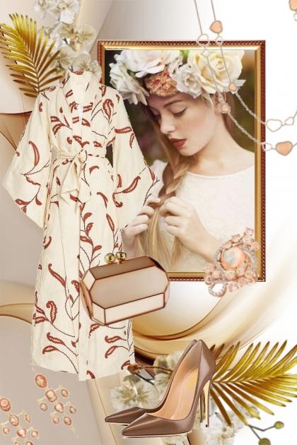 Sid beige kjole