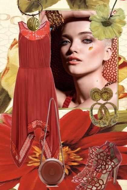 Rødbrun kjole