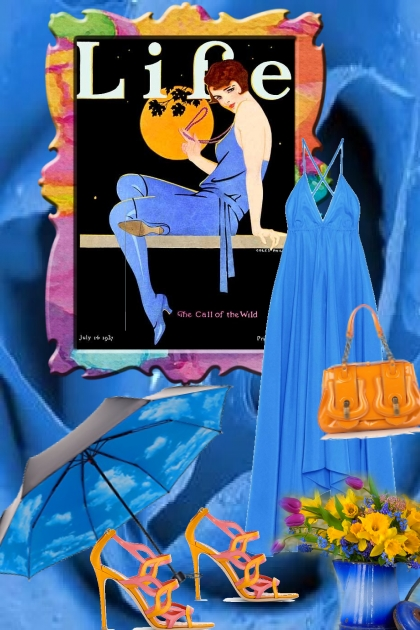 Blue dress 8-3