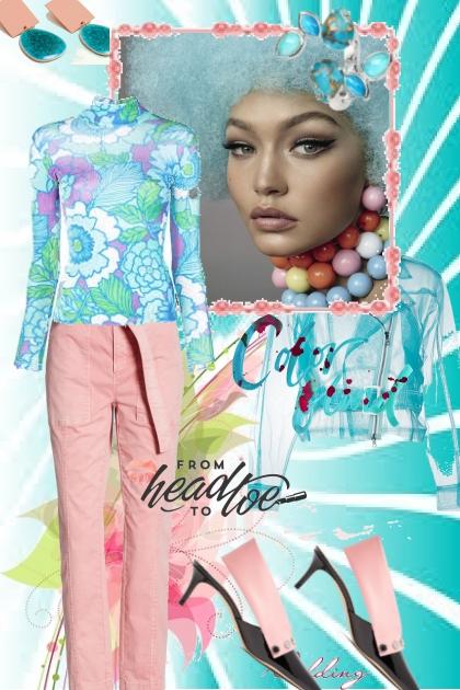 Rosa og lys turkis- Fashion set