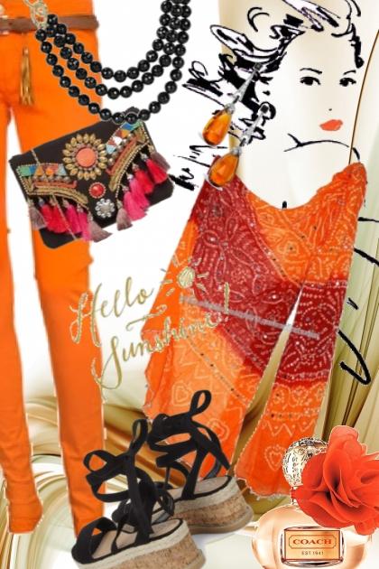 Orange bukse og tunika