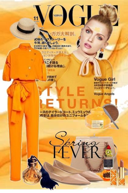 Orange buksedress