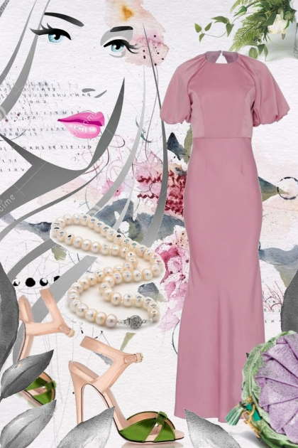 Lys lilla kjole 14