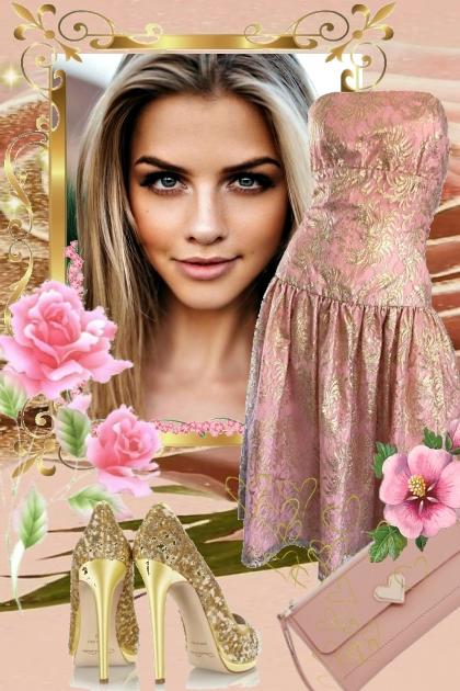 Metallic dress 17-4