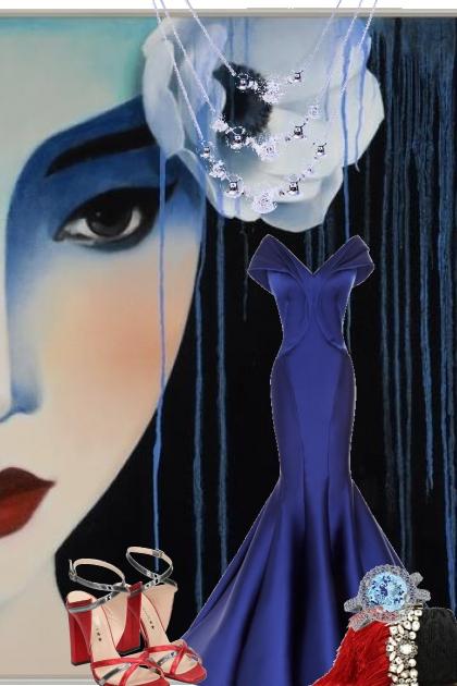 Blue gown 20-4- Fashion set