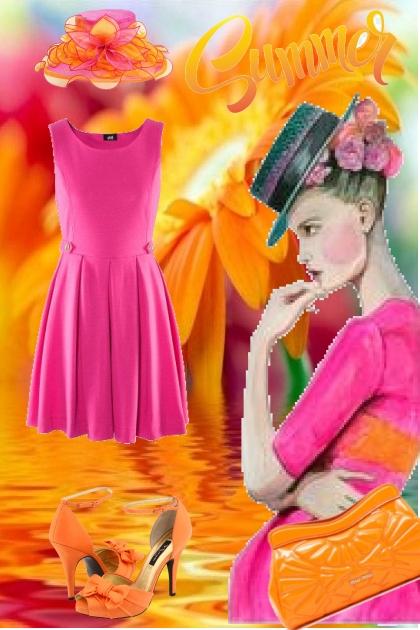 Orange og rosa 20