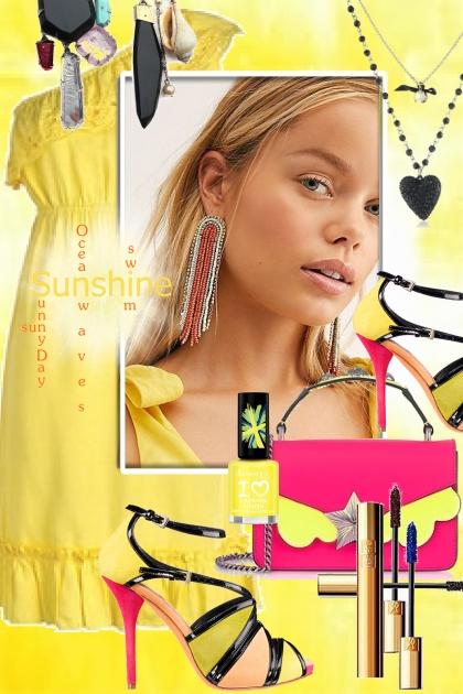 Yellow dress 3- Fashion set