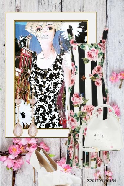 Pink roses- Combinazione di moda