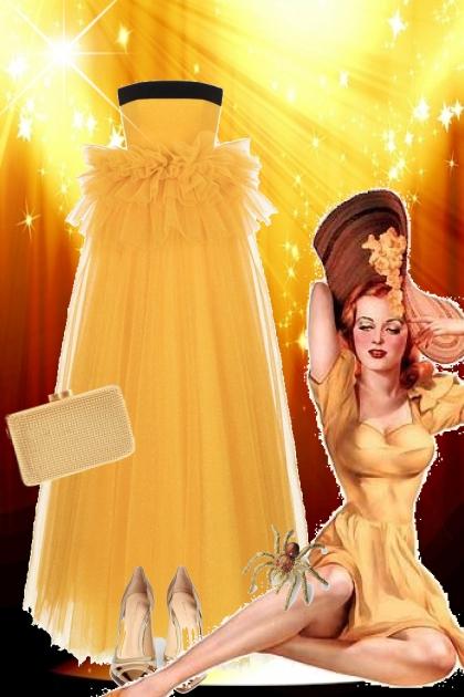Sid gul kjole