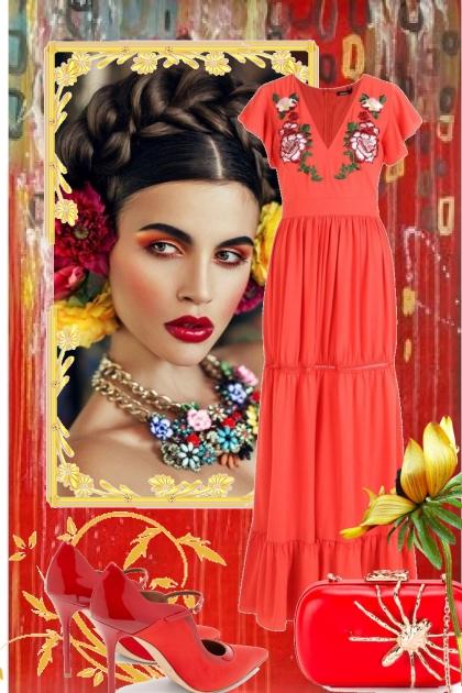 Rød kjole 8-5