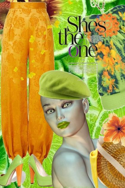 Oransje og eplegrønn
