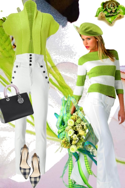 Green and white  14
