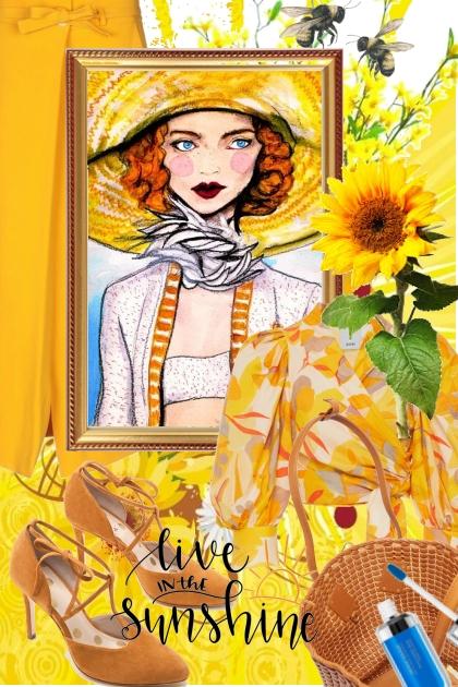 Oransje-gult antrekk