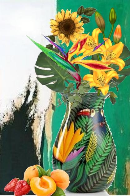Vase med papegøye