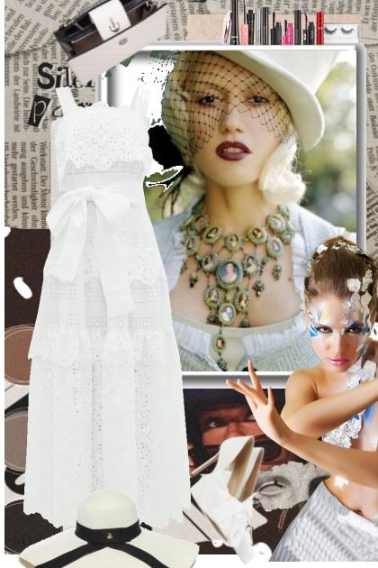 White dress 21-5- Combinazione di moda