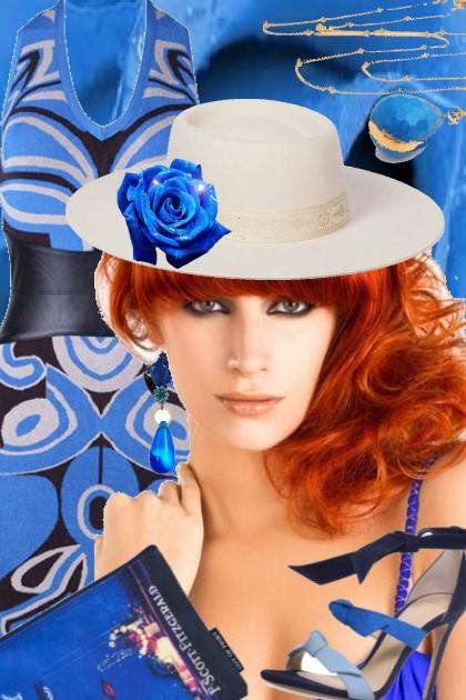 Blue dress 22