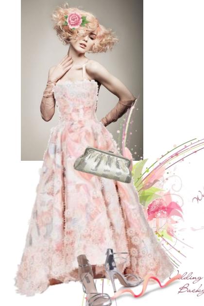 Pink gown 25-5- Fashion set