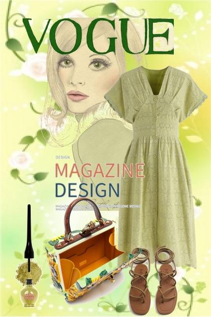 Grønn kjole 27-5