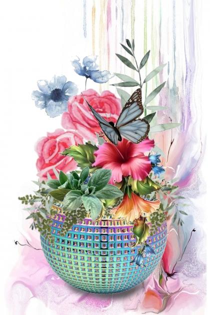 Krukke med blomster