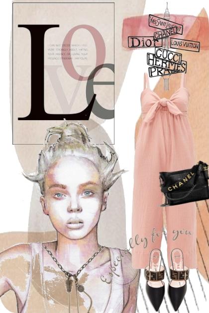 Pink jumpsuit - Fashion set