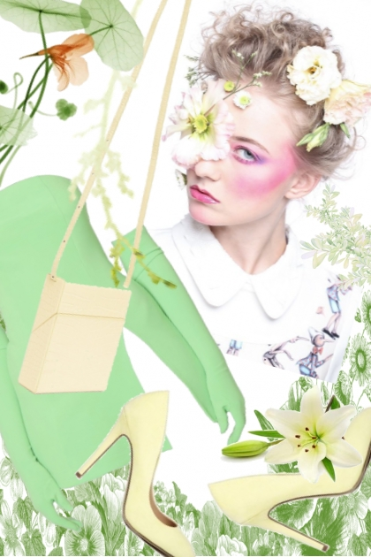 Green dress 13-6
