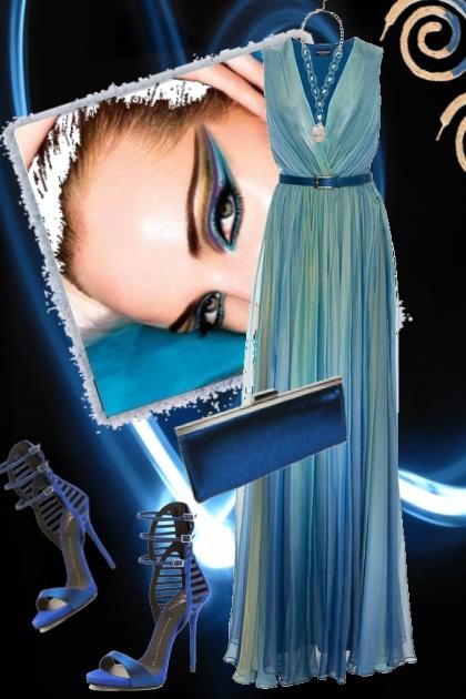 Blue dress 15/6