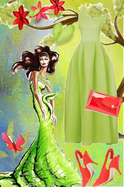 Green dress 18/6