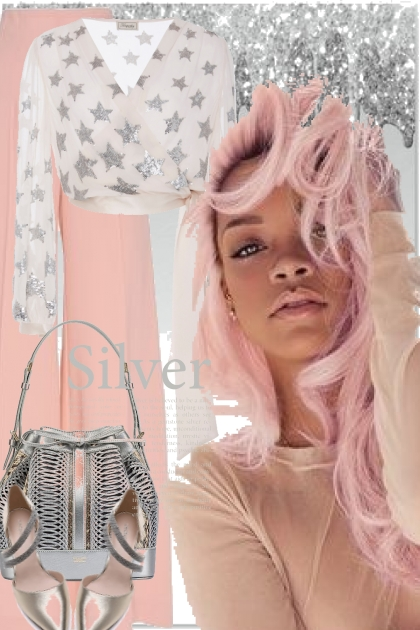 Silver and pink - Fashion set
