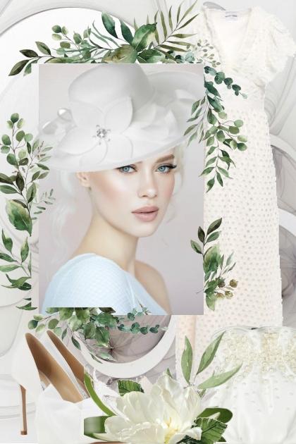 Hvit kjole 8-7