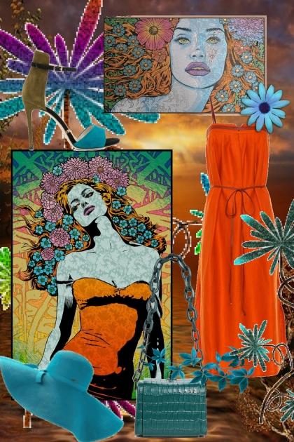 Oransje kjole 9-7