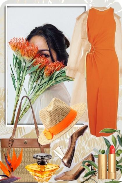 Oransje kjole 21-7