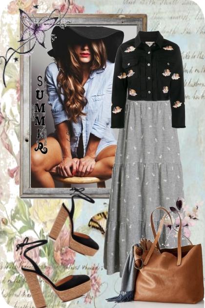 Sommerkjole og kort jakke