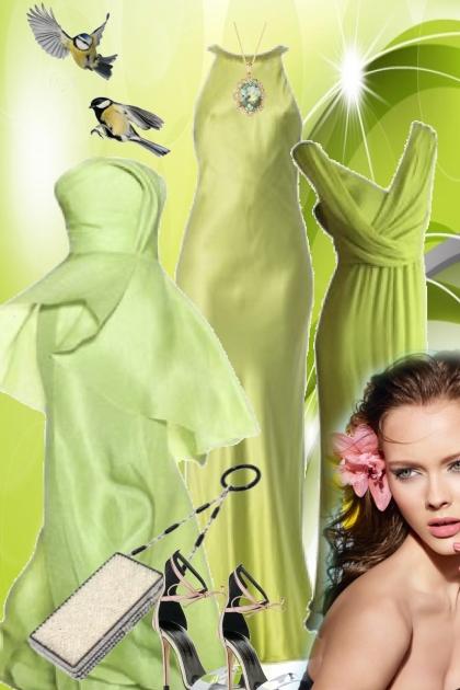 3 grønne kjoler