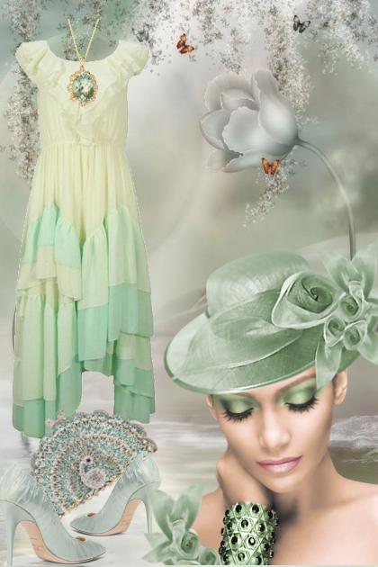 Lys grønn kjole 25-7