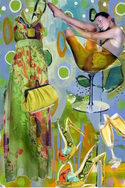 Green dress 14
