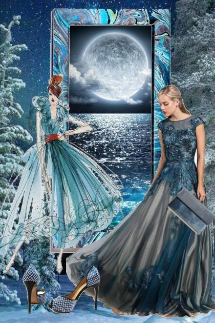 Turkisblå kjole 18