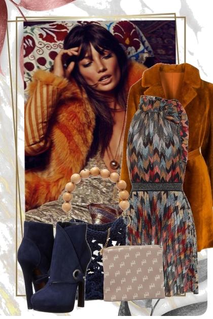 Skinnkåpe og kjole - Модное сочетание