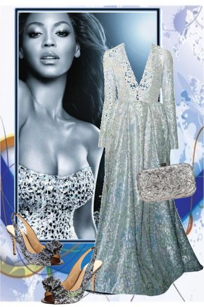 Ice Blue Floral Dress