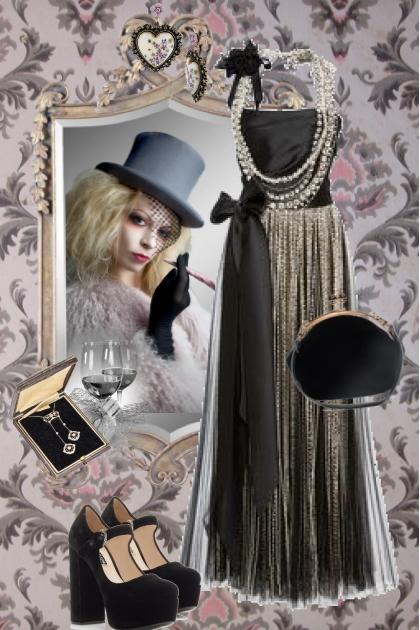 Vintage sort kjole