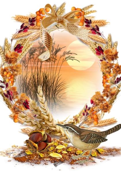 Krans med fugl