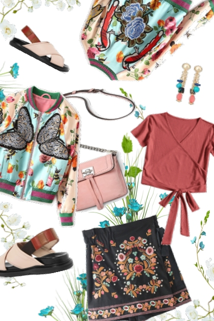 Birds & Butterflies: Embroidery Fan- Combinazione di moda