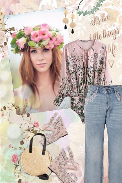 a Crown of Flowers- Combinazione di moda