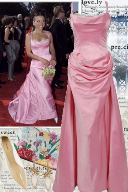 Julia Louis Dreyfus Oscar Gown by Bob Mackie