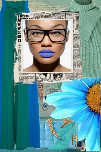 Blue Lipstick- Fashion set